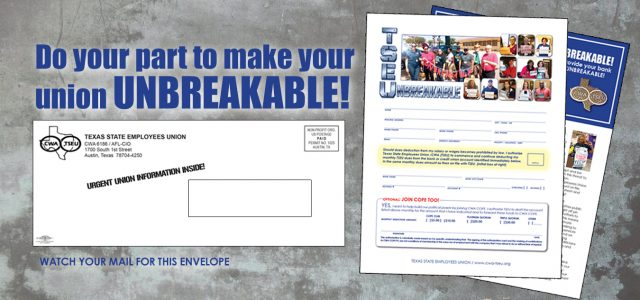 Sometime this week, you will be receiving an important letter from your union regarding your membership. If you get this letter, it means you still need to provide your bank […]