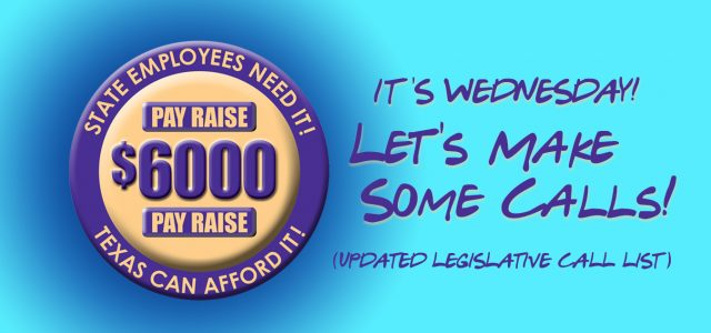 Unfortunately, calling once for our pay raise is not going to be enough! TODAY, and every Wednesday throughout the legislative session, make the calls again and ask your coworkers to […]